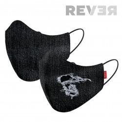 MASK 2C REVER DENIM BLACK